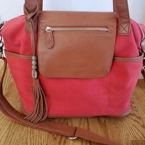 Lily Jade Red Madeline Diaper Bag